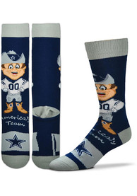 Dallas Cowboys Mascot Crew Socks - Navy Blue