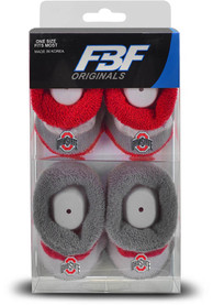Ohio State Buckeyes Baby Pro Stripe Bootie Boxed Set - Red