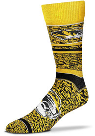 Missouri Tigers Game Time Dress Socks - Yellow