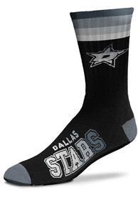 Dallas Stars Platinum Deuce Crew Socks - Black