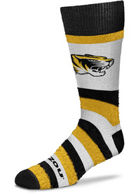 Missouri Tigers Womens Pro Stripe DST Crew Socks - Yellow
