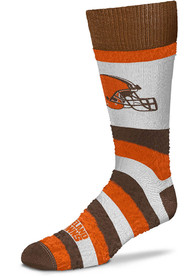 Cleveland Browns Womens Pro Stripe DST Crew Socks - Brown