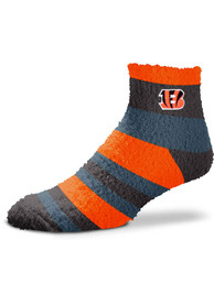 Cincinnati Bengals Womens Rainbow Quarter Socks - Orange