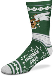 Michigan State Spartans 2019 Ugly Sweater Crew Socks - Green
