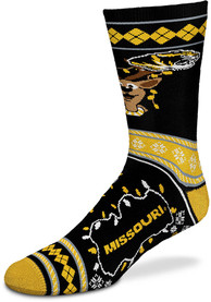 Missouri Tigers 2019 Ugly Sweater Crew Socks - Yellow