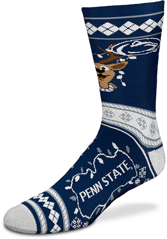 Penn State Nittany Lions 2019 Ugly Sweater Mens Crew Socks - Image 1