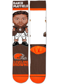Baker Mayfield Cleveland Browns For Barefeet Originals #Player Crew Socks - Brown