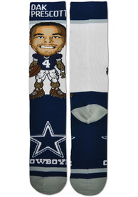 Dak Prescott Dallas Cowboys For Barefeet Originals #Player Crew Socks - Navy Blue