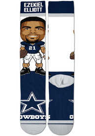 Ezekiel Elliott Dallas Cowboys For Barefeet Originals #Player Crew Socks - Navy Blue