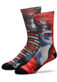 Baker Mayfield Cleveland Browns For Barefeet Originals Say My Name Crew Socks - Brown