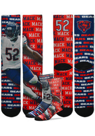 Chicago Bears Say My Name Crew Socks - Navy Blue