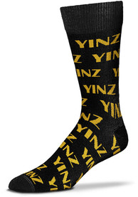 Pittsburgh Yinz Allover Dress Socks - Black