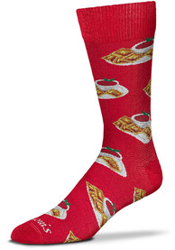 St Louis Toasted Ravioli Allover Dress Socks - Red