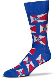 Wichita Flag Dress Socks - Blue