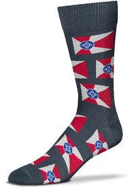 Wichita Flag Dress Socks - Grey