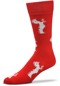 Wichita Flag Dress Socks - Red