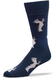 Wichita Spirit of Wichita Allover Dress Socks - Navy Blue
