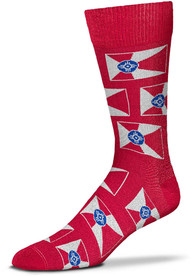 Wichita Spirit of Wichita Allover Dress Socks - Red