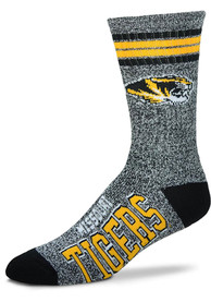 Missouri Tigers Marbled 4 Stripe Deuce Crew Socks - Grey