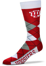 Indiana Hoosiers Team Color Argyle Socks - Red