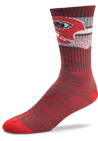 Kansas City Chiefs Classic First String Crew Socks - Red