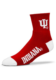 Indiana Hoosiers Team Color Quarter Socks - Red
