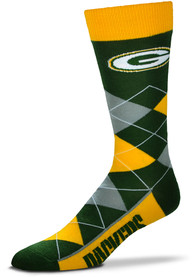Green Bay Packers Team Logo Argyle Socks - Green