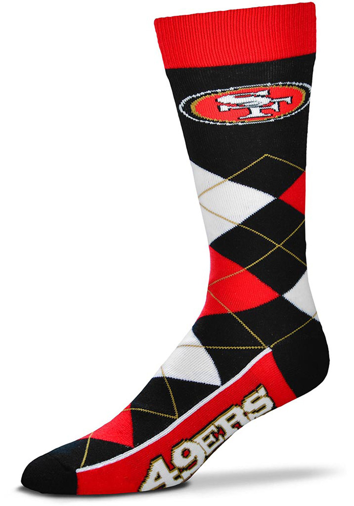 San Francisco 49ers Team Logo Argyle Socks - Red