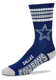 Dallas Cowboys Youth 4 Stripe Deuce Crew Socks - Blue