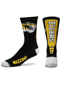 Missouri Tigers Jump Key Black Crew Socks - Black