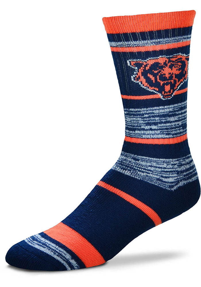 Chicago Bears RMC Stripe Crew Socks - Blue