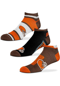 Cleveland Browns Show Me the Money No Show Socks - Brown
