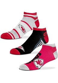 Kansas City Chiefs Show Me the Money No Show Socks - Red