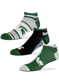 Michigan State Spartans Show Me the Money No Show Socks - Green