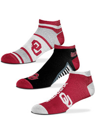 Oklahoma Sooners Show Me the Money No Show Socks - Red