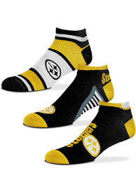 Pittsburgh Steelers Show Me the Money No Show Socks - Yellow