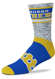 Pitt Panthers Double Duece Crew Socks - Blue