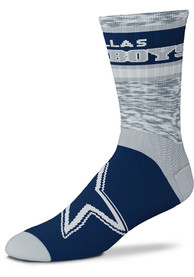 Dallas Cowboys Double Duece Crew Socks - Blue