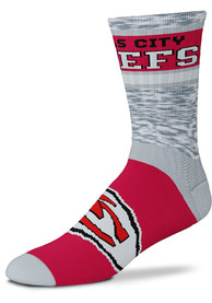 Kansas City Chiefs Double Duece Crew Socks - Red