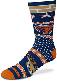 Chicago Bears Holiday Cheer Crew Socks - Blue