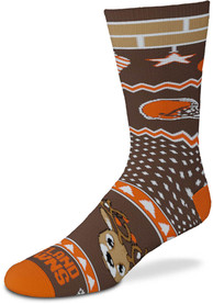 Cleveland Browns Holiday Cheer Crew Socks - Orange
