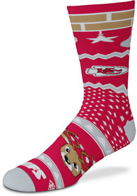 Kansas City Chiefs Holiday Cheer Crew Socks - Red