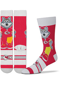 Kansas City Chiefs Madness Crew Socks - Red