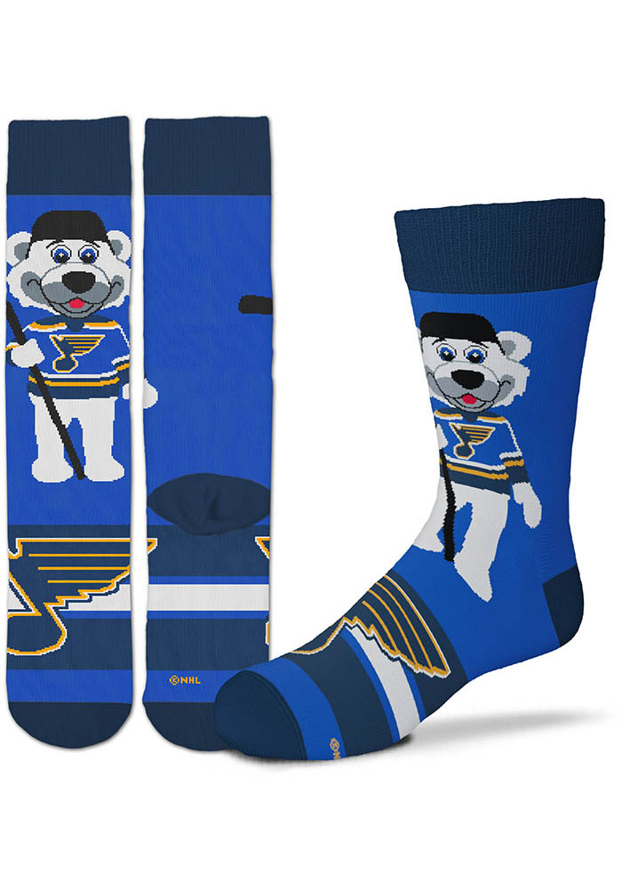 St Louis Blues Blue Madness Youth Crew Socks - Image 1