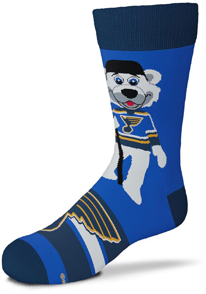 St Louis Blues Blue Madness Youth Crew Socks - Image 2