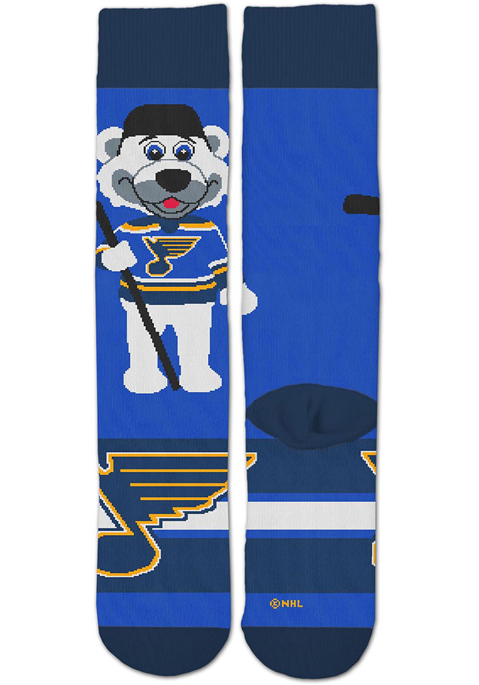 St Louis Blues Blue Madness Youth Crew Socks - Image 3