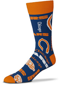 Chicago Bears Wall to Wall Dress Socks - Blue