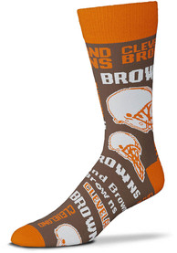 Cleveland Browns Wall to Wall Dress Socks - Orange