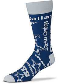 Dallas Cowboys Wall to Wall Dress Socks - Blue
