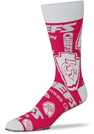 Kansas City Chiefs Wall to Wall Dress Socks - Red
